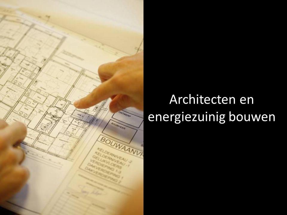 Architecten en energiezuinig bouwen