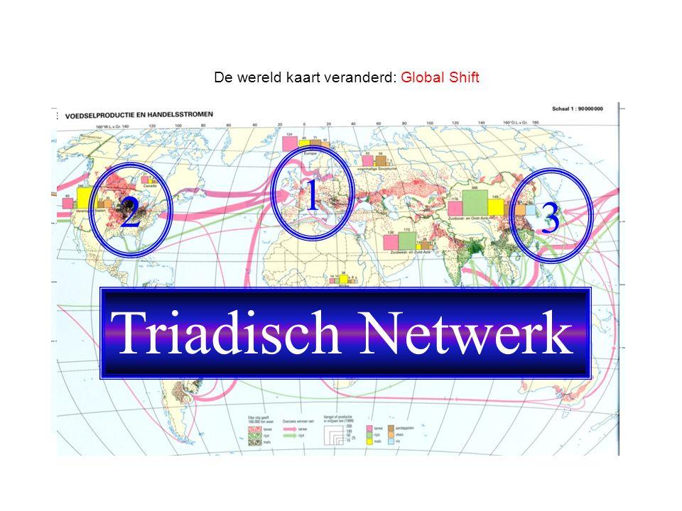De wereld kaart veranderd: Global Shift 1 2 3 Triadisch Netwerk