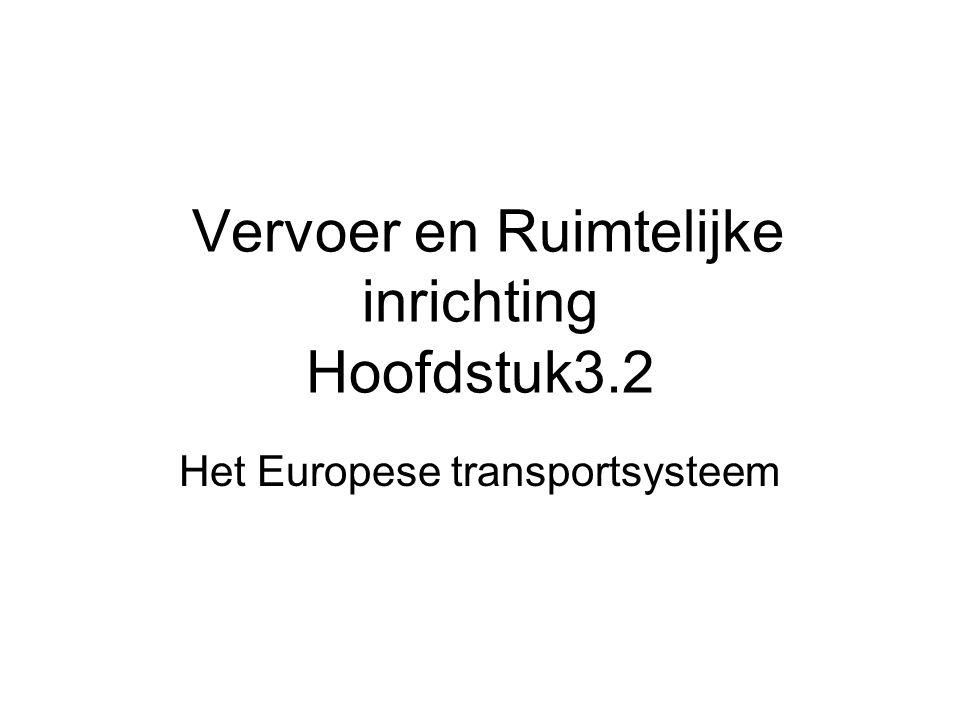 Vervoer en Ruimtelijke inrichting Hoofdstuk3.2 Het Europese transportsysteem