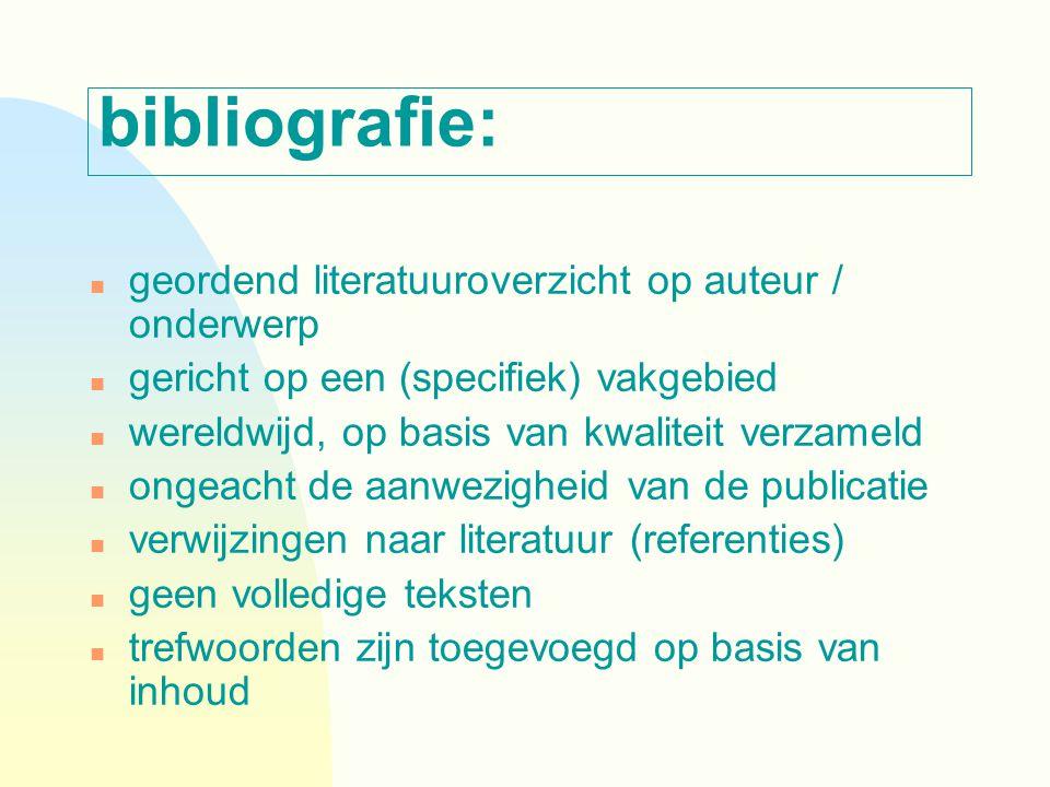 zoekstrategieën n Search anywhere: zoeken in 'alle' fields n Controlled vocabulary (descriptors): Thesaurus (PsycInfo) MeSH database (PubMed)