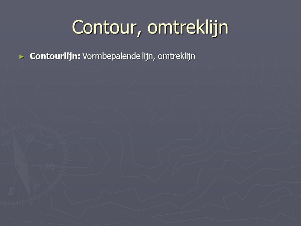 Contour, omtreklijn ► Contourlijn: Vormbepalende lijn, omtreklijn