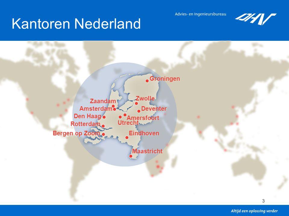 4 Organisatiestructuur Business Groups Ruimte en Mobiliteit Water Bouw en Industrie Aviation Regio's Europa Azië Afrika Noord-Amerika