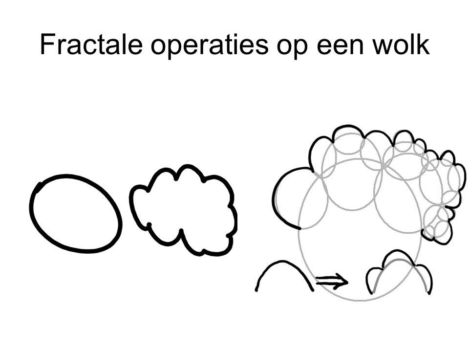 Fractale operaties op een wolk