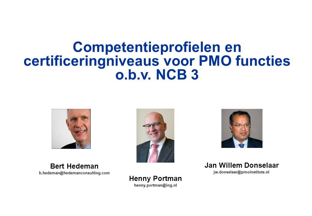Competentieprofielen en certificeringniveaus voor PMO functies o.b.v.