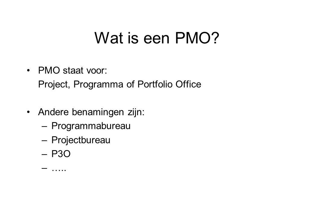 Wat is een PMO.