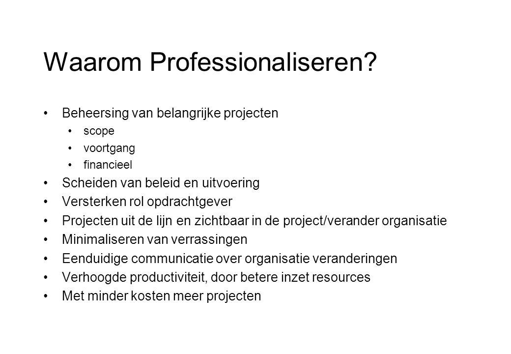 Waarom Professionaliseren.