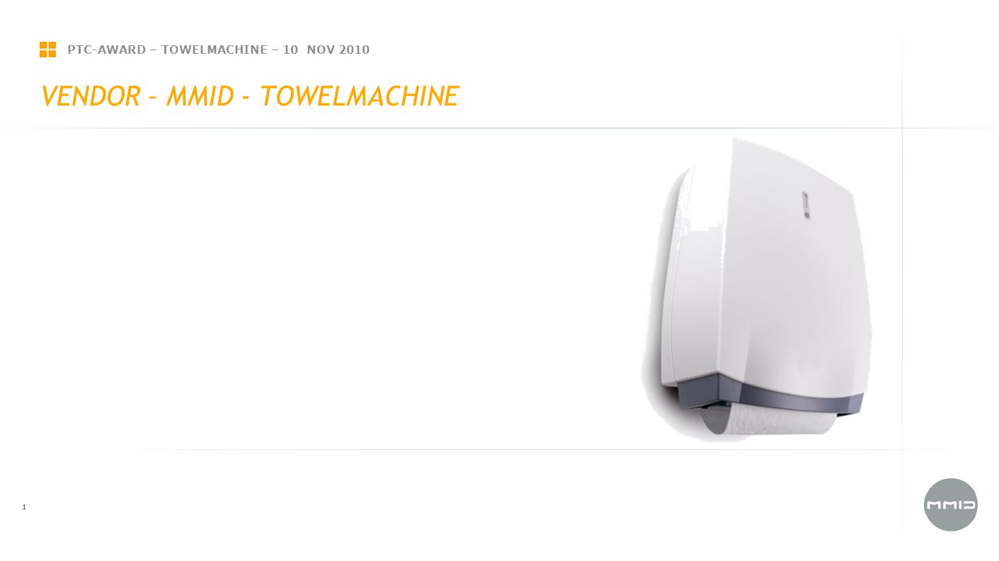 PTC-AWARD – TOWELMACHINE – 10 NOV 2010 1 VENDOR – MMID - TOWELMACHINE