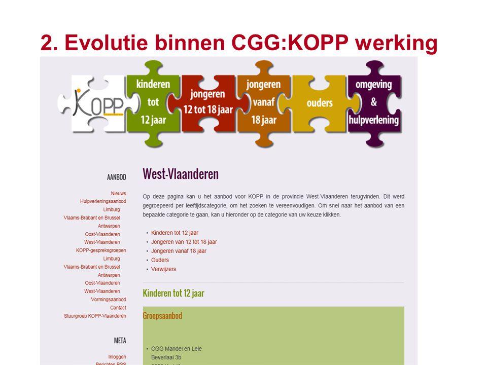 15 2. Evolutie binnen CGG:KOPP werking