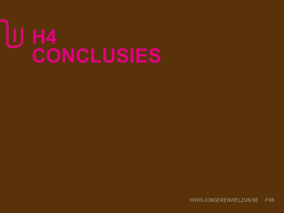WWW.JONGERENWELZIJN.BE P 68 H4 CONCLUSIES