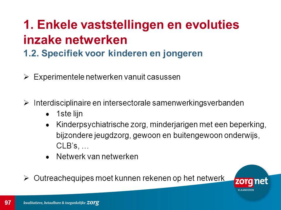 97 1.Enkele vaststellingen en evoluties inzake netwerken 1.2.