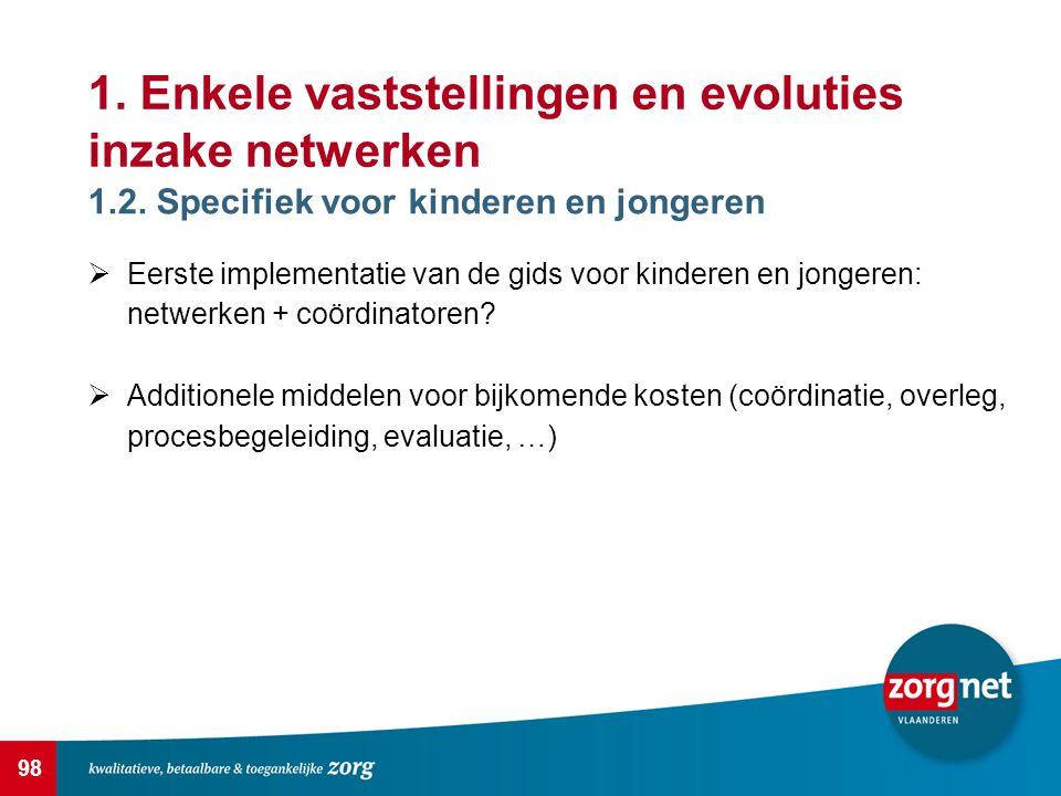 98 1.Enkele vaststellingen en evoluties inzake netwerken 1.2.