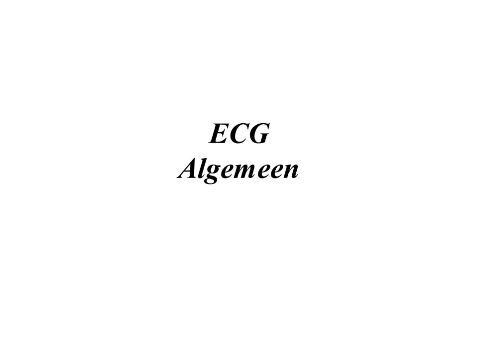 ECG Algemeen