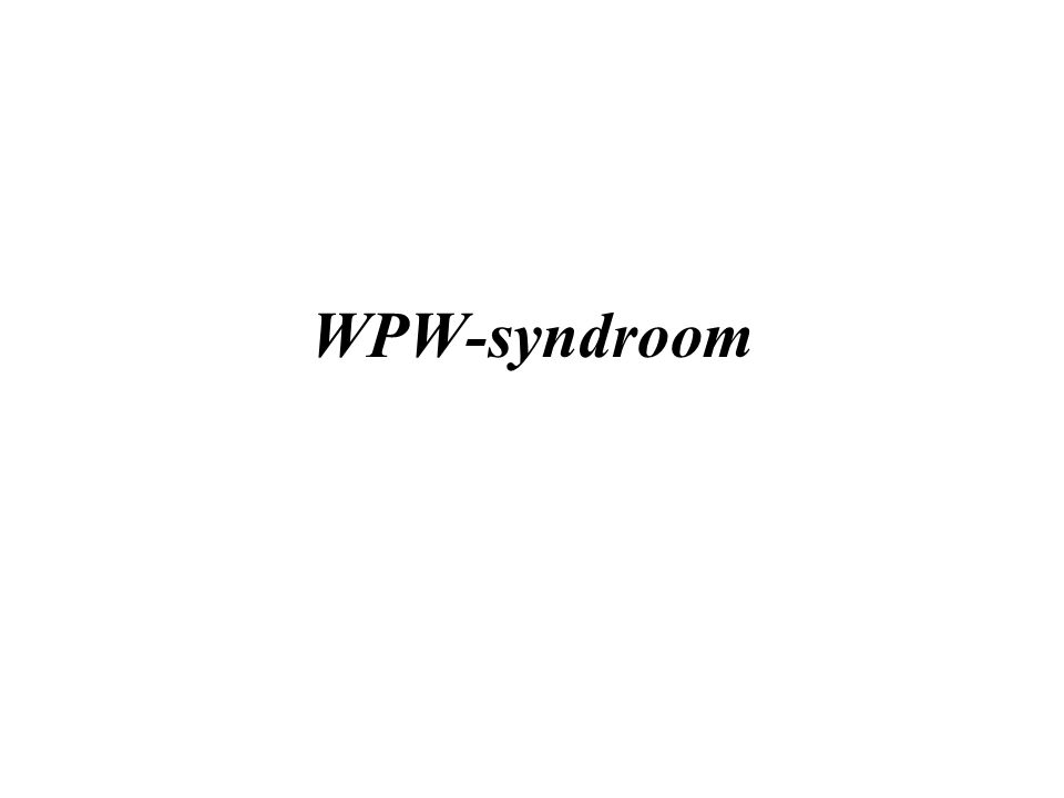 WPW-syndroom