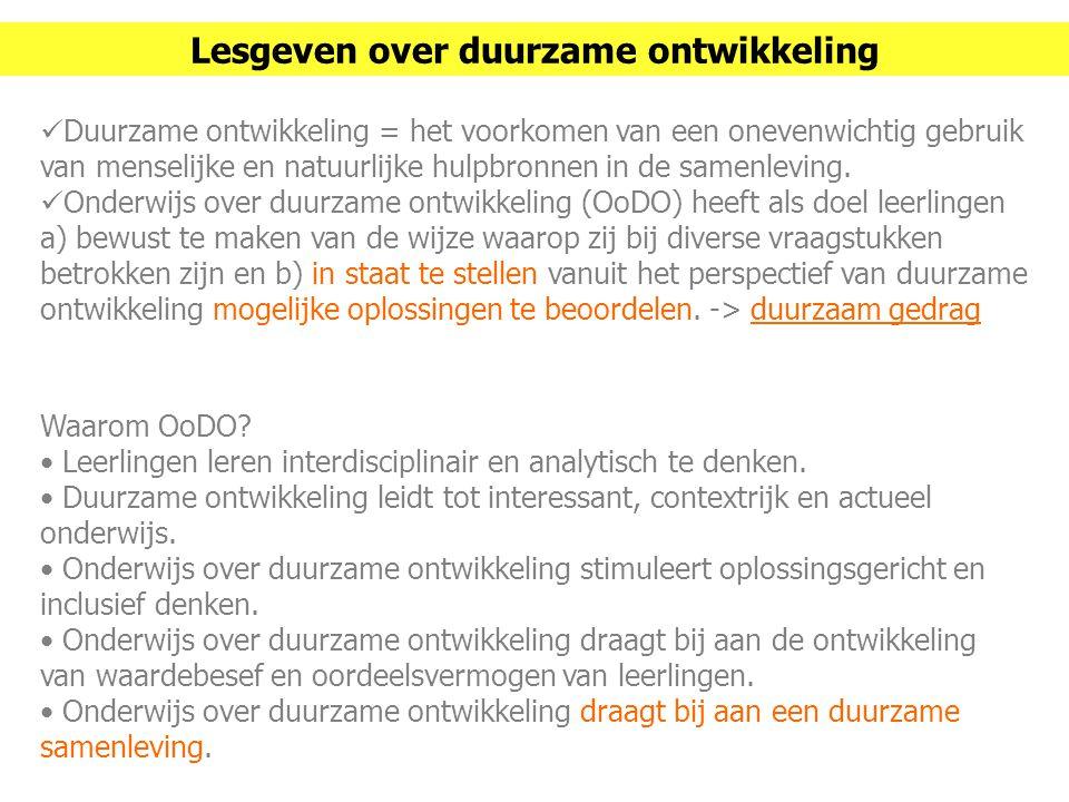 Duurzaam gedrag (dus ook OoDO) is lastig en complex: 1 - Waarom zouden we het anders doen.