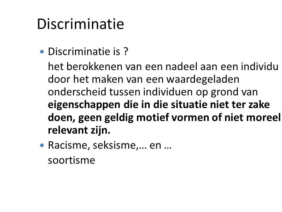 Discriminatie Discriminatie is .