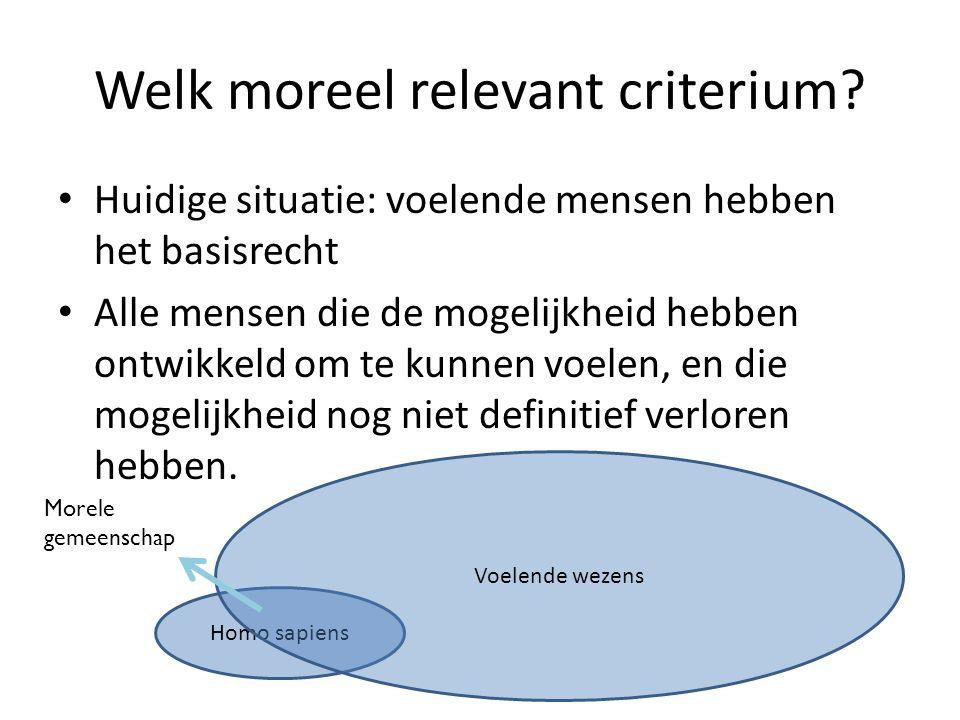 Welk moreel relevant criterium.