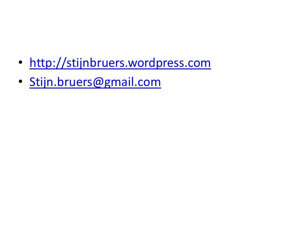 http://stijnbruers.wordpress.com Stijn.bruers@gmail.com