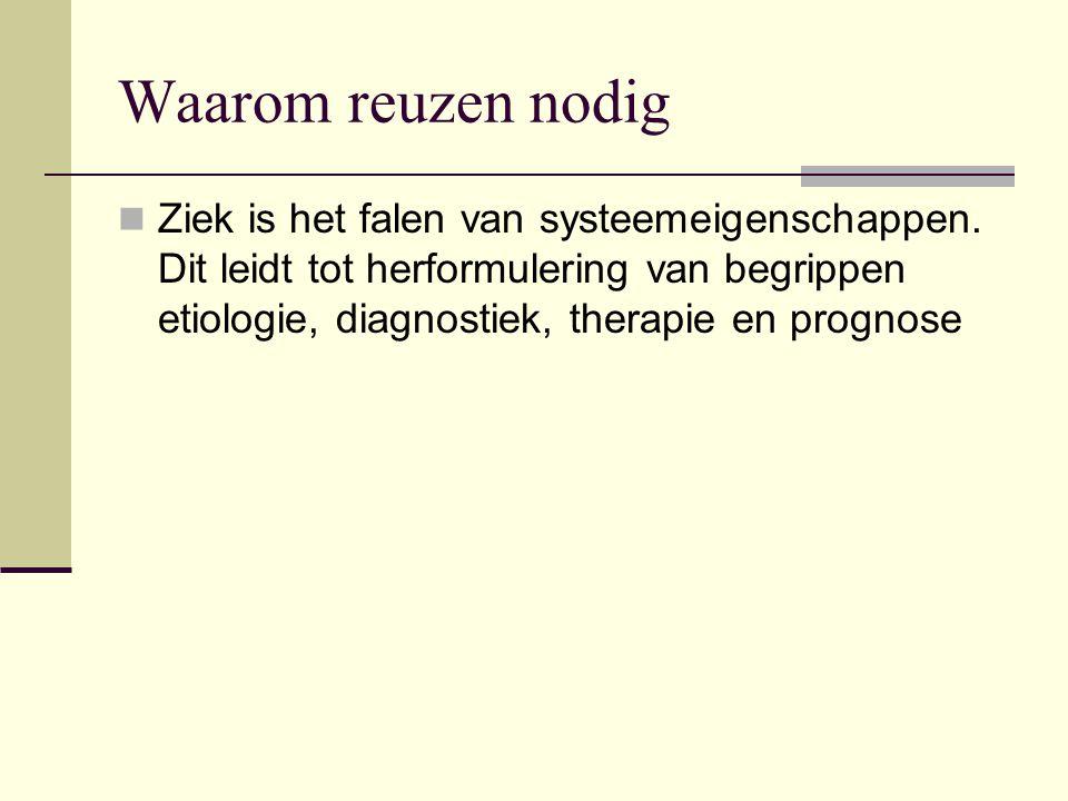 Waarom reuzen nodig Ziek is het falen van systeemeigenschappen.