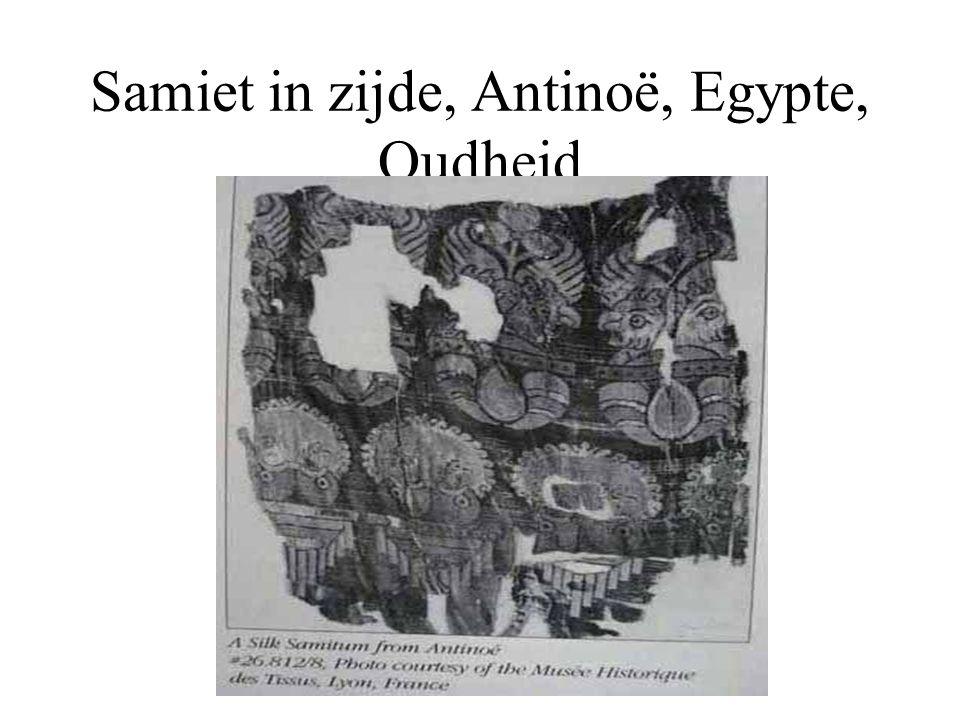 Samiet in zijde, Antinoë, Egypte, Oudheid