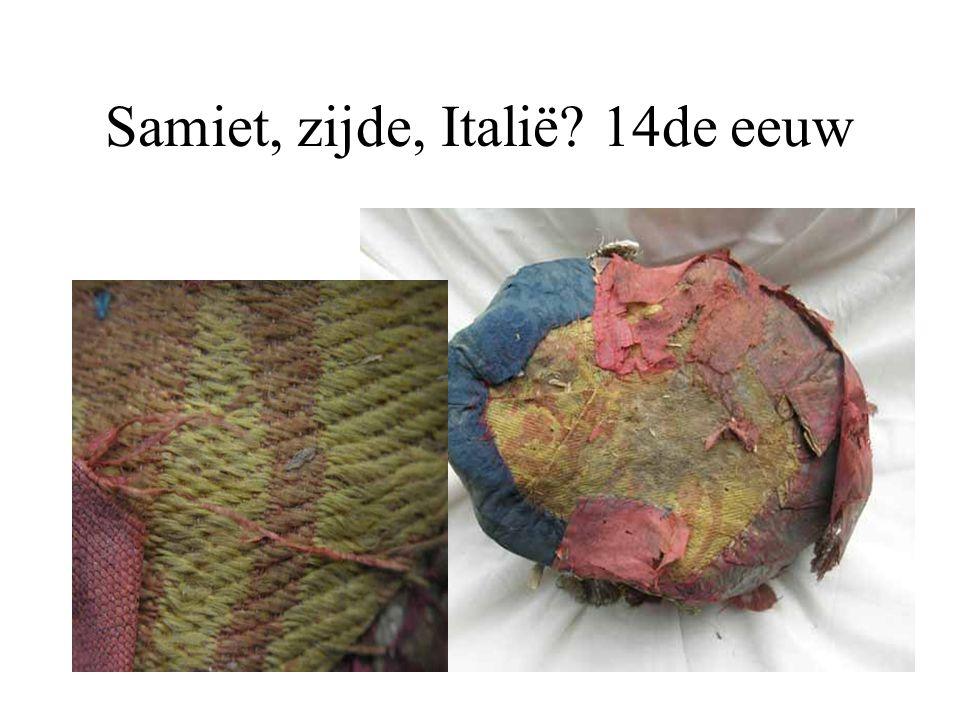 Samiet, zijde, Italië? 14de eeuw