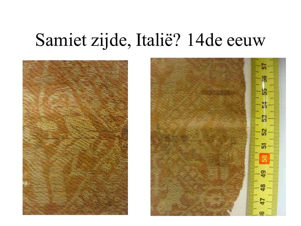 Samiet zijde, Italië? 14de eeuw