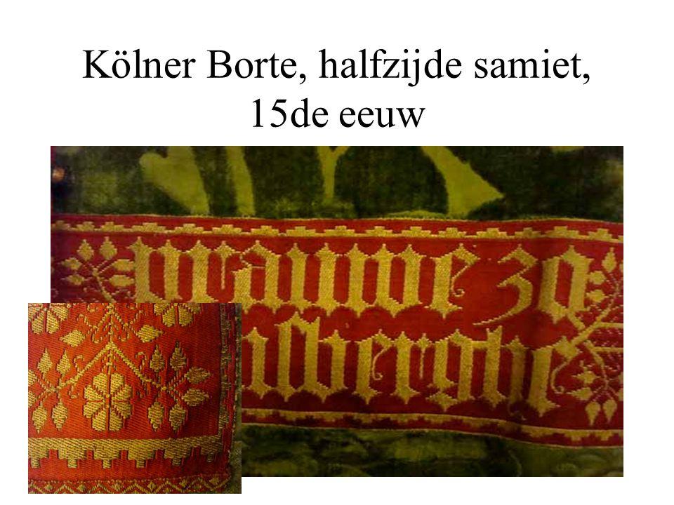 Kölner Borte, halfzijde samiet, 15de eeuw