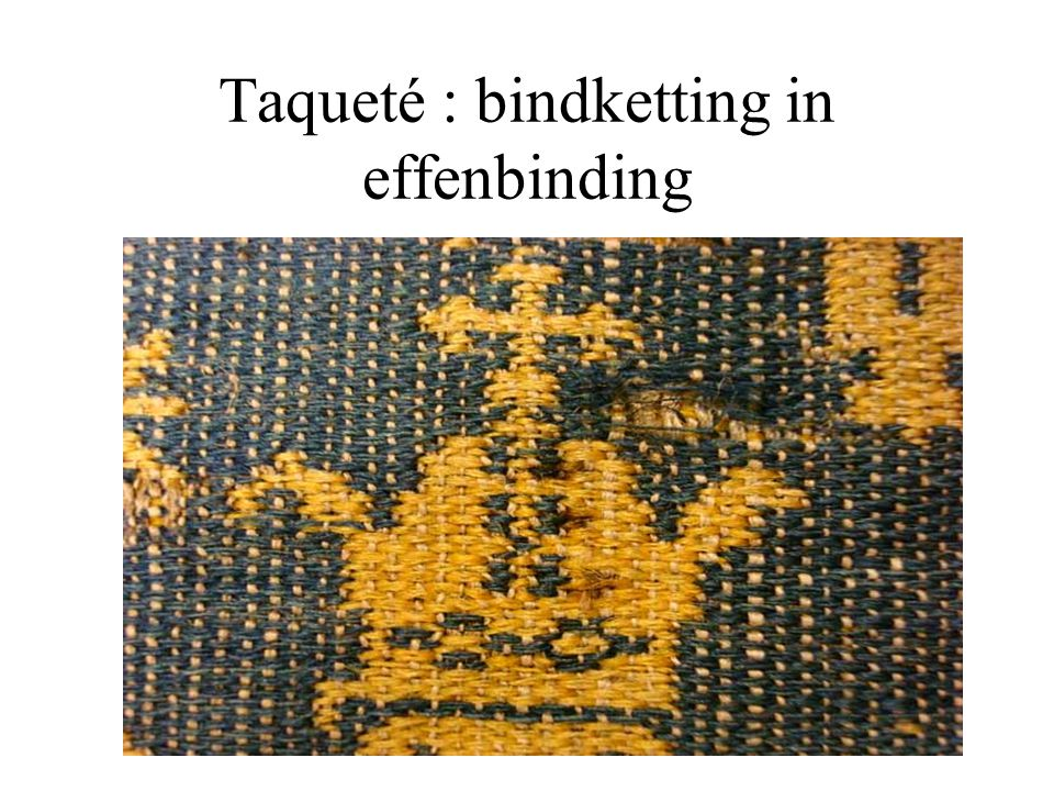 Taqueté : bindketting in effenbinding