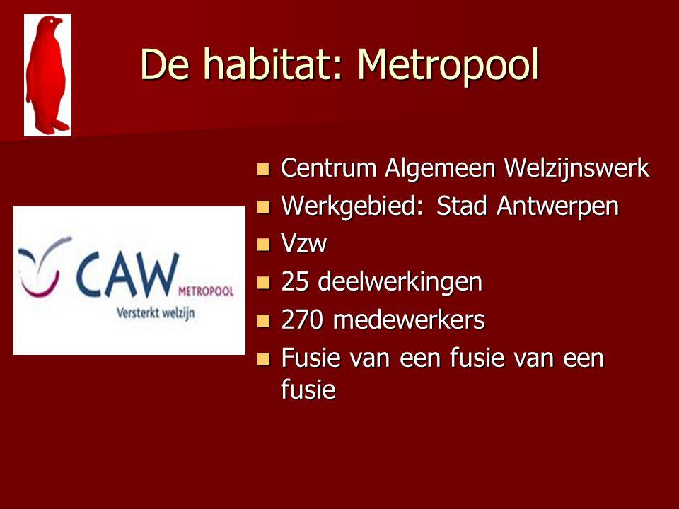 De habitat: Metropool Centrum Algemeen Welzijnswerk Centrum Algemeen Welzijnswerk Werkgebied: Stad Antwerpen Werkgebied: Stad Antwerpen Vzw Vzw 25 dee
