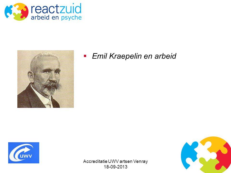  Emil Kraepelin en arbeid