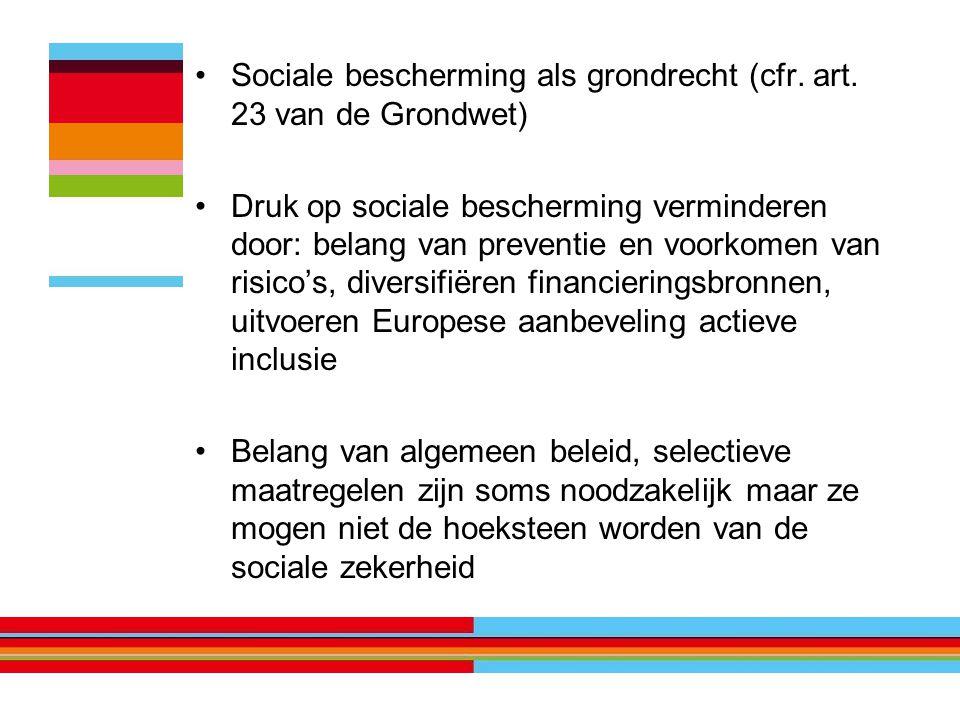 Sociale bescherming als grondrecht (cfr. art.