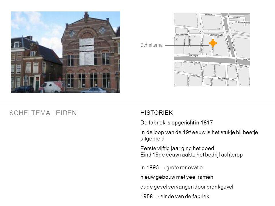 HERBESTEMMINGEN handel in lompen en oude metalen tot 1987 Een gedeelte is nog enige jaren in gebruik geweest als cultureel centrum annex café: de Droomfabriek Het oude fabriekscomplex werd waar mogelijk gerestaureerd en verbouwd en maakt deel uit van het Stedelijk Museum De Lakenhal.