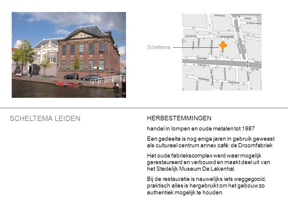 HERBESTEMMINGEN handel in lompen en oude metalen tot 1987 Een gedeelte is nog enige jaren in gebruik geweest als cultureel centrum annex café: de Droo