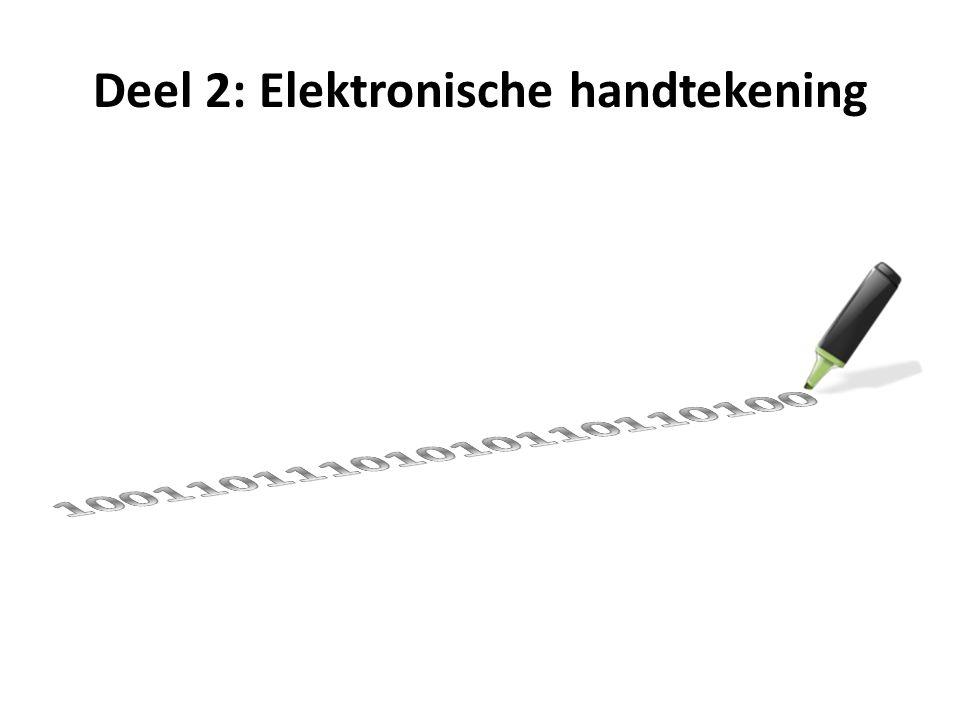 Deel 2: Elektronische handtekening