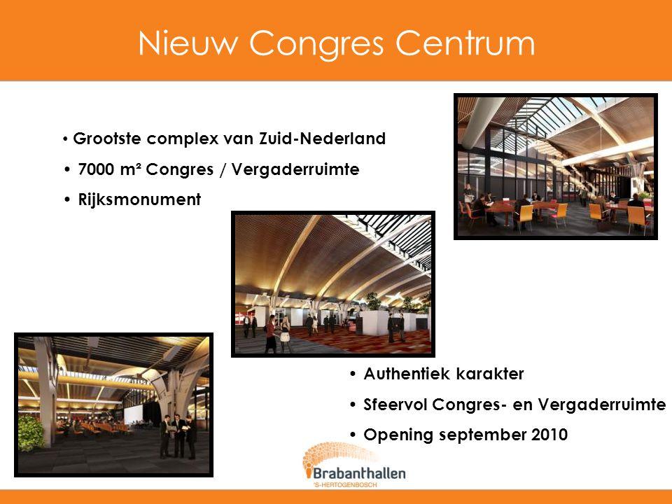 Nieuw Congres Centrum Grootste complex van Zuid-Nederland 7000 m² Congres / Vergaderruimte Rijksmonument Authentiek karakter Sfeervol Congres- en Verg