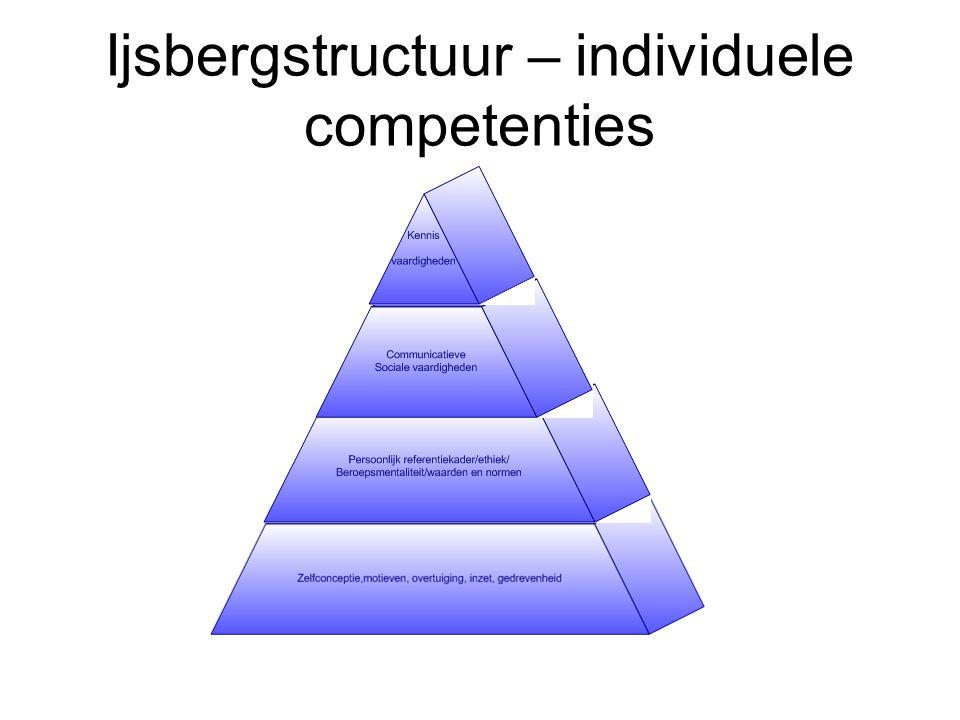 Ijsbergstructuur – individuele competenties