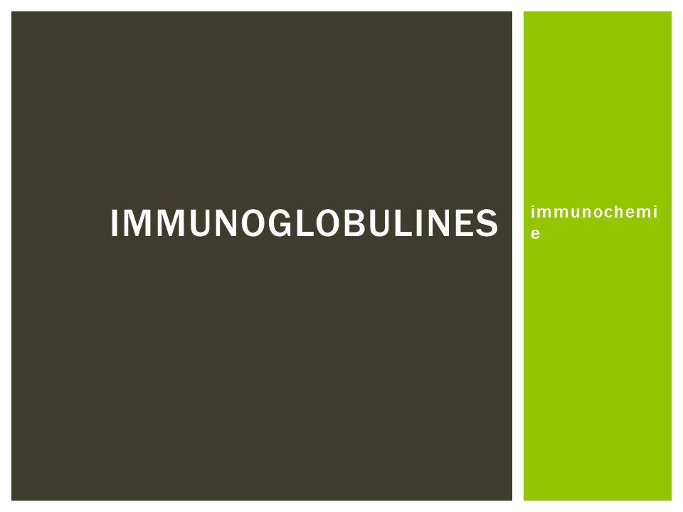immunochemi e IMMUNOGLOBULINES