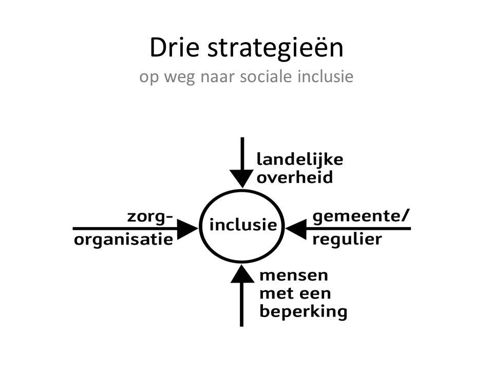 Drie strategieën op weg naar sociale inclusie