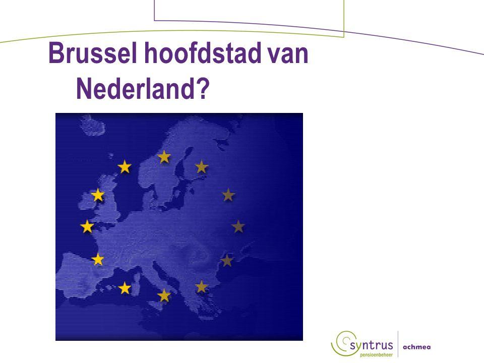 Brussel hoofdstad van Nederland