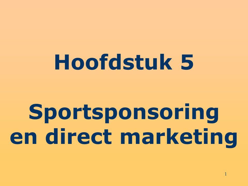 2 Structuur hoofdstuk 5 Direct marketing en CRM Direct mail Overige vormen van direct marketing Internetcommunicatie