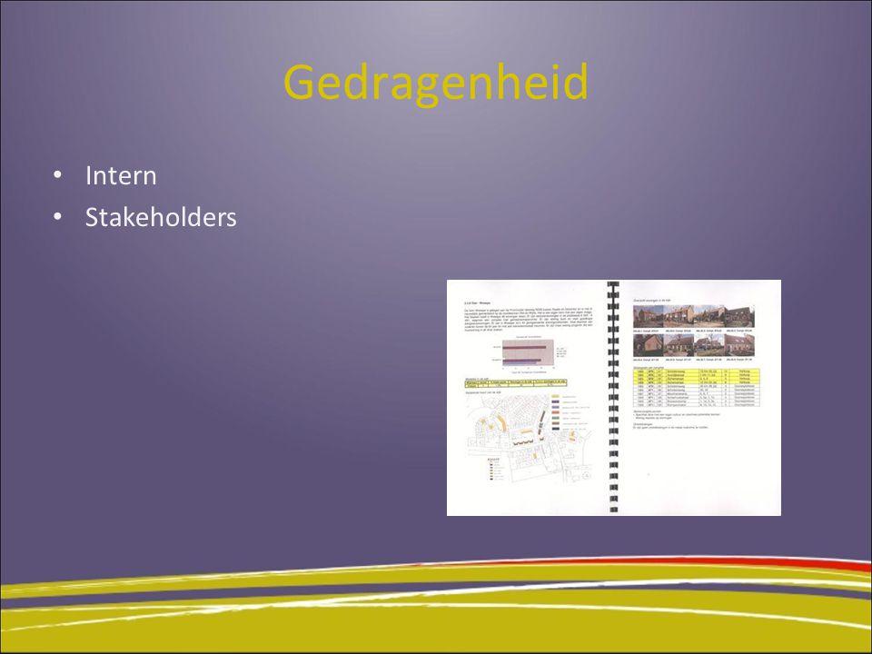 Gedragenheid Intern Stakeholders