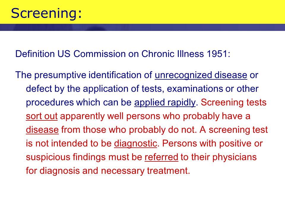 Screening criteria When to screen.–Wilson en Jungner WHO 1968.