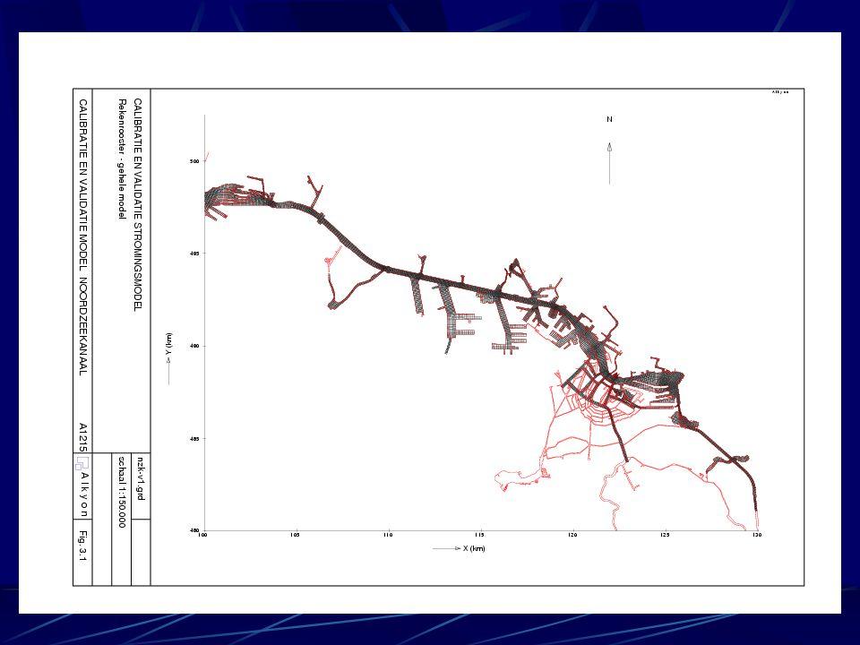 Test model Testsimulaties januari 2002 Randvoorwaarden en lozingen opgelegd volgens beschikbare gegevens Trigger sturing spuisluizen 2D en 3D (10 lagen) simulaties Conclusie: werkend model