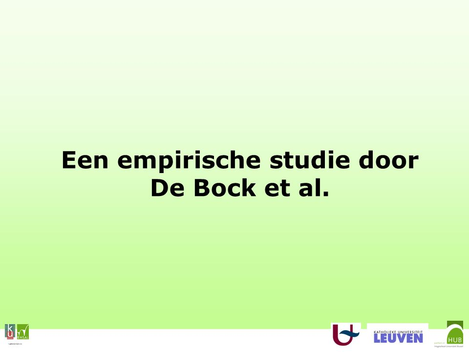 VLEKHO-HONIM Een empirische studie door De Bock et al.