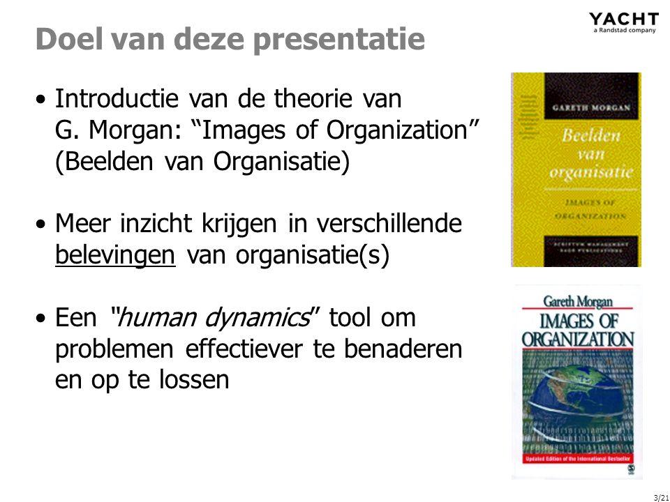 3/21 Doel van deze presentatie Introductie van de theorie van G.