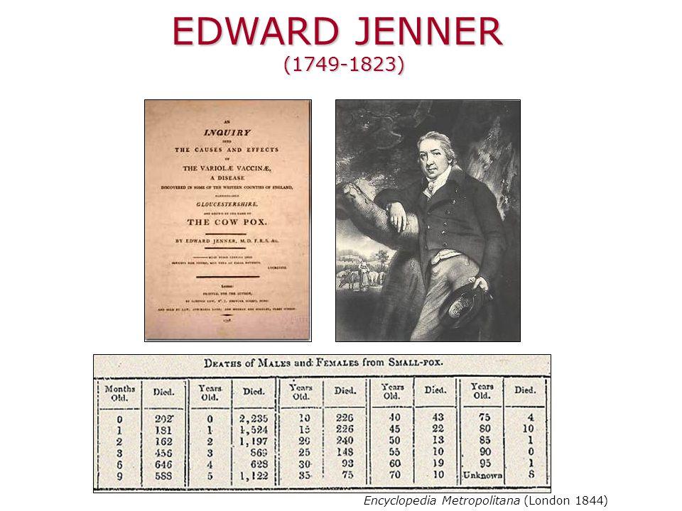 EDWARD JENNER (1749-1823) Encyclopedia Metropolitana (London 1844)