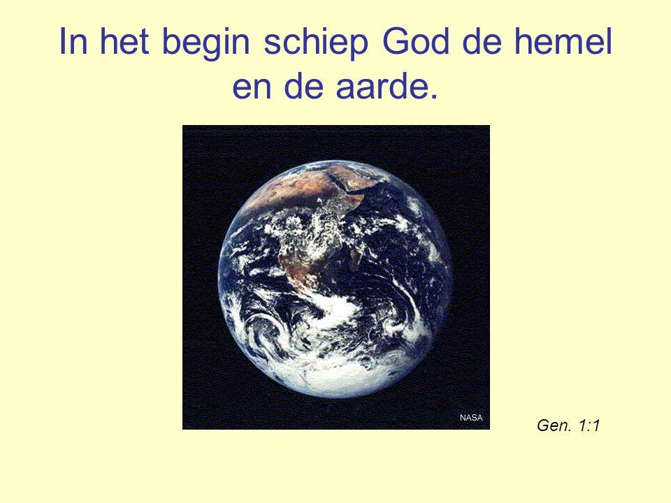 Psalm 19: 2 De hemel verhaalt van Gods majesteit, het uitspansel roemt het werk van zijn handen.