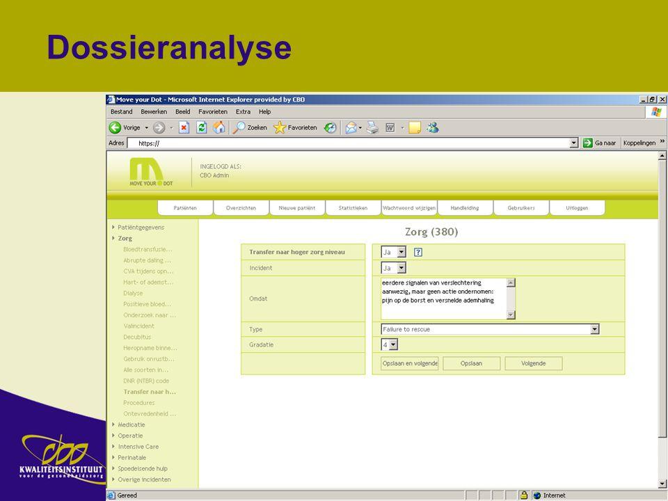 14 november 2007 13 Dossieranalyse