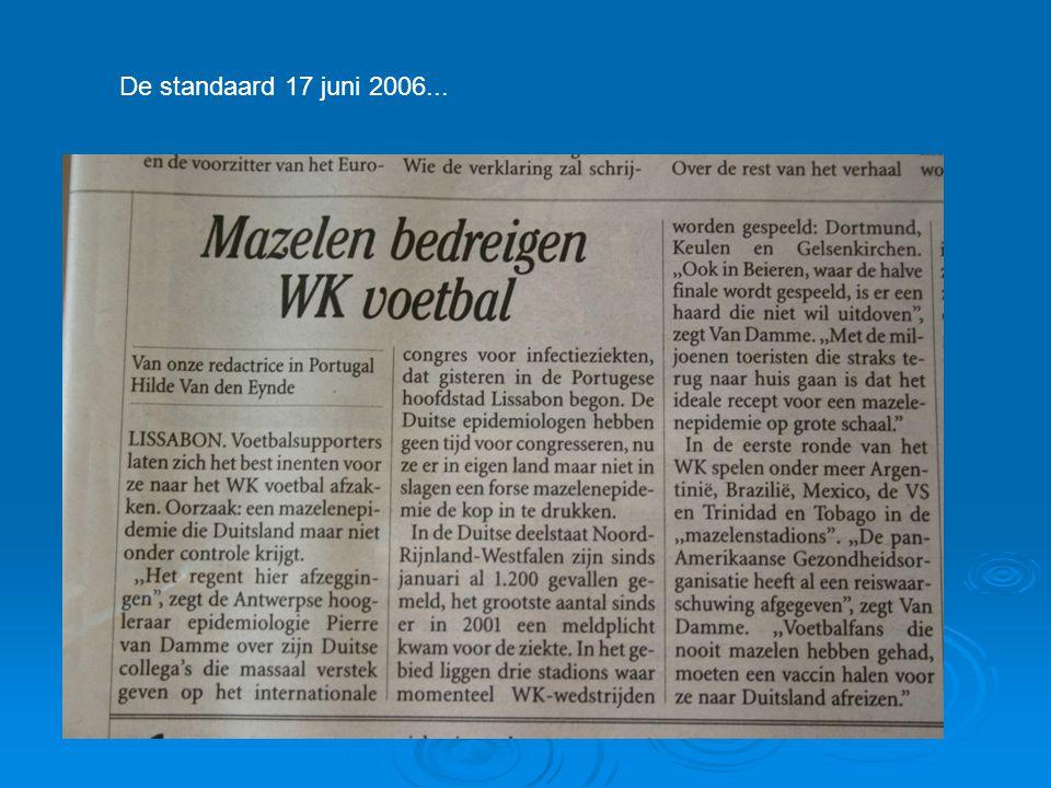 De standaard 17 juni 2006...
