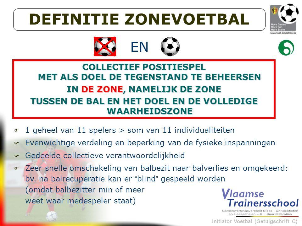 Initiator Voetbal (Getuigschrift C) 3. Opleidingsvisie : initiatie wedstrijd-en tussenvormen