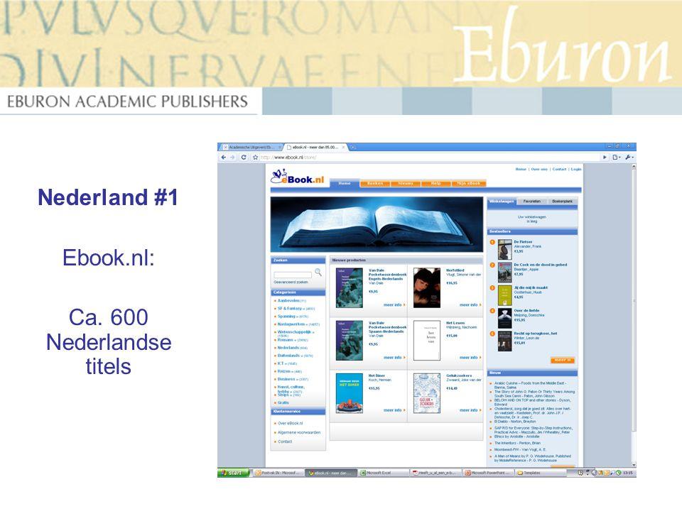 Nederland #1 Ebook.nl: Ca. 600 Nederlandse titels